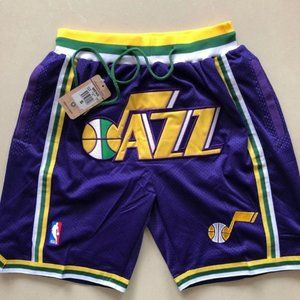 NWT🍭Just Don NBA🍭Utah Jazz Swingman Shorts🍭